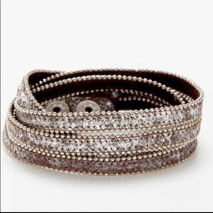 "PRESH JEWELRY ""BANDIT"" Leather Beaded Bracelet"